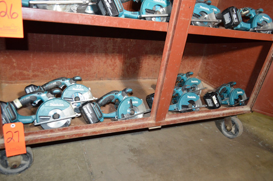 Lot - (6) Makita 5-3/8 in. Cordless Metal Cutting Circular Saws; (3) Model