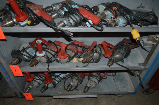 Lot - (5) Milwaukee Electric Drills (1) Missing the Chuck