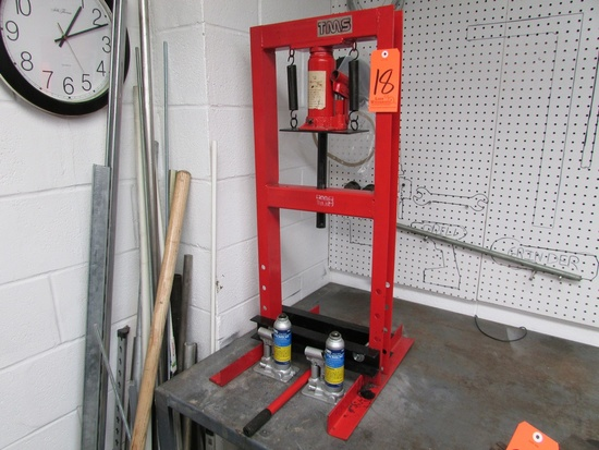 """TMS 6 Ton Hydraulic Benchtop H-Frame Press, 12-3/4"""" Between Uprights, with (2) OTC 9302 2 Ton Bottle"""
