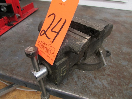 """5"""" Benchtop Vise with Swivel Base"""