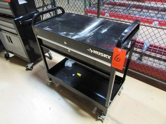 Husky 1-Drawer Open Top Rolling Tool Box , Serial Number 201708240400