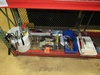 Assorted Hand Tools to Include Lever Grease Guns, Caulk Gun, Trowels, Joint Knifes, Adjustable Floor