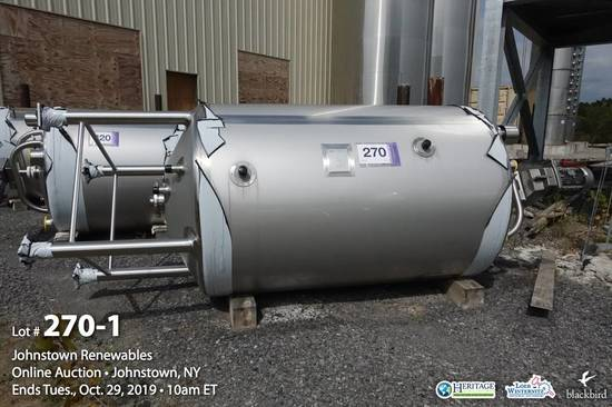 Feldmeier, Model EPC-600-48-FS, 600 Gallon Stainless Steel Vertical Jackete