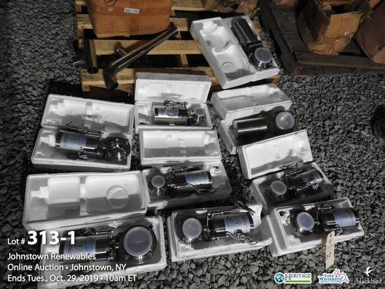Lot of (9) Pneumatic flap valves