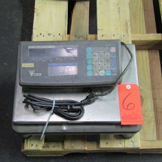 Digi 100 lb. Cap. Model DC-190 Bench-Top Digital Scale, with 15-1/2 in. x 1