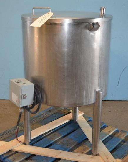 40 Gallon S/S Vertical Water Jacketed Tank, Location: E-04E