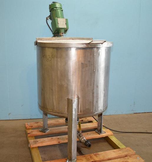150 Gallon S/S Vertical Single Wall Prop Agitated Tank, Location: E-04W