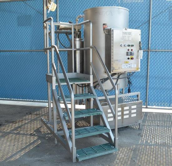 Cozzini CSH2000 260 Gallon Cozzini S/S Brine Tank with 15 and 10 hp C-Pumps and Heat Exhanger 2009,