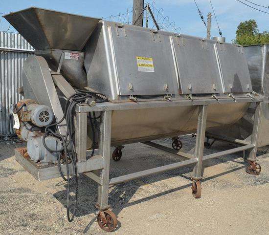 8.5 ft L x 5 ft Diameter S/S Rotary Drum Blancher or Pouch Cooler, Location: Y-03
