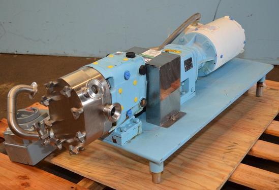 Waukesha Cherry Burrell 15 Waukesha Model 015 1 HP S/S Jacketed Positive Displacement Pump 2008,