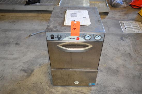 Fagor LUC21W Bar Glass Washer, Serial: 1101000783