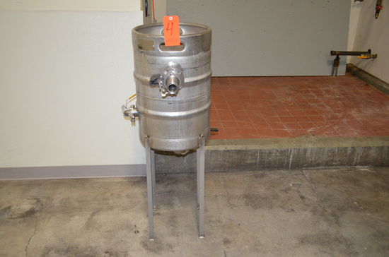 Beer Keg Customized for Use with CIP Chemicals
