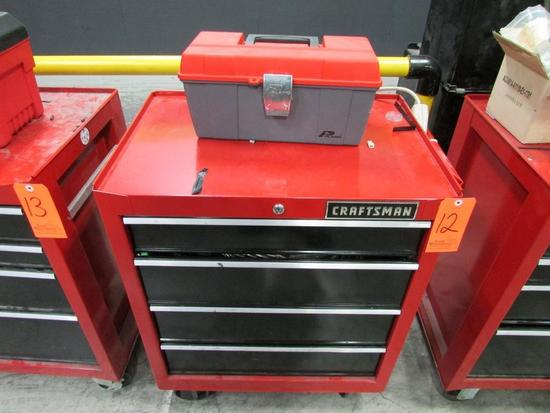 Craftsman Model 706.299060 4-Drawer Rolling Toolbox; with Plano Open-Top Toolbox, Assorted Hand