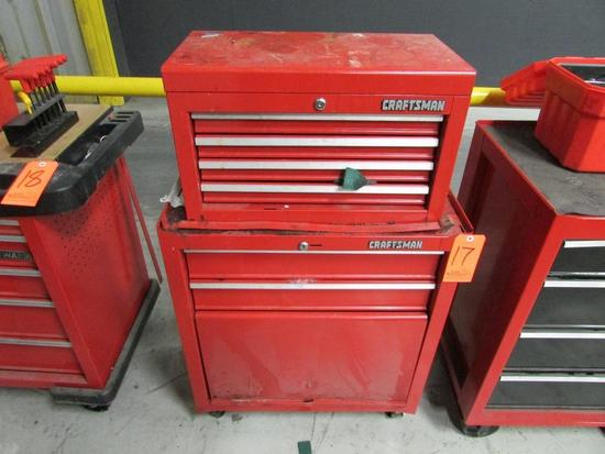 Craftsman Model 706.657830 2-Drawer Open Bottom Bulk Storage Rolling Toolbox; with Craftsman