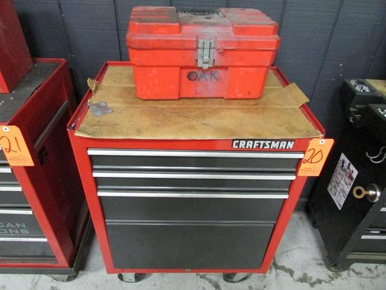 Craftsman Model 706.659030 3-Drawer Open Bottom Bulk Storage Rolling Toolbox; with Ace Open-Top