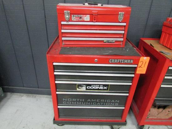 Craftsman Model 706.659050 5-Drawer Rolling Toolbox; with Waterloo Model PCH2030 3-Drawer Open-Top