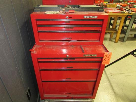 Craftsman Model 706.597450 4-Drawer Toolbox; with Craftsman Model 706.598850 3-Drawer Toolbox,