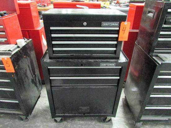 Craftsman Model 706.323180 2-Drawer Open Bottom Bulk Storage Rolling Toolbox; with Craftsman