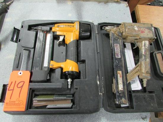 Lot - (2) Pneumatic Nailers/Stapler: (1) Bostitch Model BT200 Industrial Oil-Free Brad Nailer, (1)