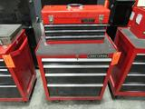 Craftsman Model 706.323110 4-Drawer Rolling Toolbox; with Huskey 3-Drawer Open-Top Toolbox, Assorted