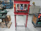 20-Ton H-Frame Press; 25-1/2 in. Between Columns, with Westward 3ZC63G Manual Hydraulic Bottle Jack