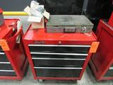 Craftsman Model 706.620210 4-Drawer Rolling Toolbox; with Bel & Howell Plastic Storage Box, Assorted