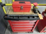 Westward Model 1RC70 5-Drawer Rolling Toolbox; with Tuff-Box Open-Top Toolbox, Assorted Hand Tools