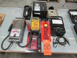 Lot - (6) Electrical Testing Equipment: Model 99-09 6/12-V Battery Tester, Amprobe DM78C Pocket