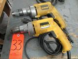 Lot (2) DeWalt 1/2 in. Model DW235G Electric VSR Drills