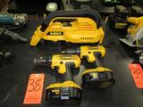 Lot - (3) DeWalt 18V Cordless Power Tools: (2) Model DC759 1/2 in. VSR Drill/Drivers, (1) Model
