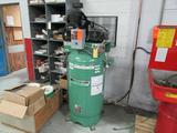 Speedaire 5-HP Model WW294-3 Vertical Tank Mounted Reciprocating Air Compressor, S/N: D010614