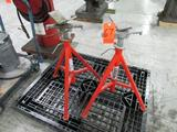 Ridgid Model VJ-99 Adjustable Height Pipe Stands; 12 in. Max Diameter, 2,500 lb. Max.