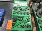 Greenlee Model 7238SB Knock-out Punch Sets; with Ratcheting Wrench Driver for 1/2 in. thru