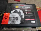 Lot - Assorted Table Saw Blades, to Include: Freud SD512 12 in. Super Dado Set, Freud 12 in. Blades,