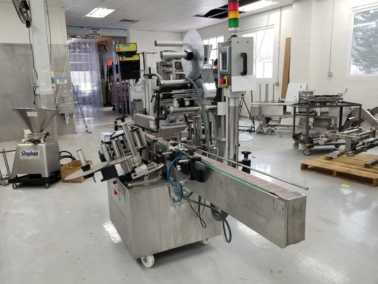 Tabbik Model TD700M Conveyorized Inline Labeler, S/N: 2122 (2011); with Top