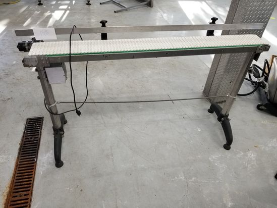 5 ft. Stainless Steel Conveyor; with 6 in. Poly Belting