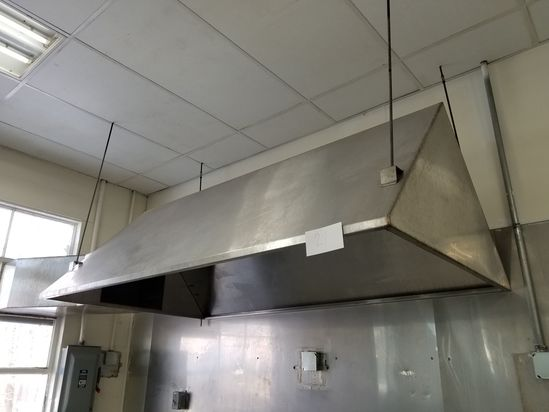 4 ft. x 7 ft. Stainless Steel Custom Hood; Suspended from Ceiling