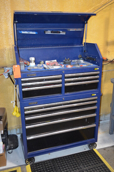 Lot - Performax Portable Tool Cabinet and Tool Chest; with Hand Tools