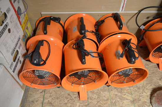 Lot - (6) 12 in. Portable Ventialtion Fans
