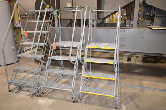 Lot - (2) 4-Step Mobile Ladders