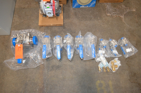 Lot - (9) Assorted Size S/S Ball Valves
