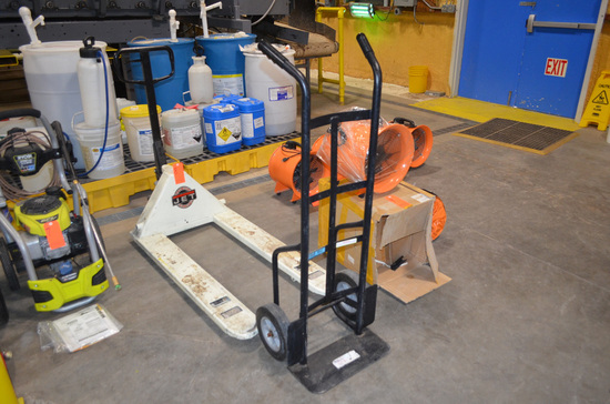 Lot - Manual Pallet Jack, and 2-Wheel Hand Truck