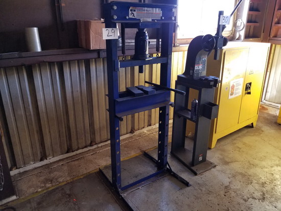 Westward 20-Ton Cap. Model 1MZj6 Shop Press; with Bottle Jack (Located in A