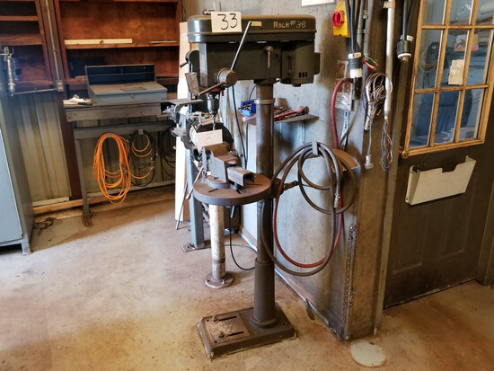 Cummins 9-Speed Model C117-F Drill Press; with 5/8 in. Chuck, 3/4-HP, 1,725