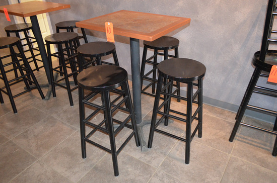 27 in. x 22 in. Bistro Table, with (4) Stools
