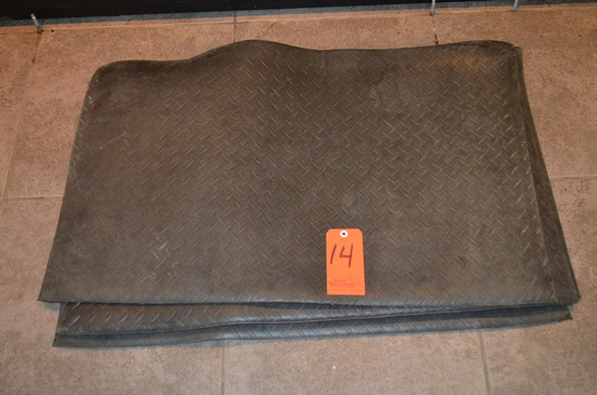 Lot - (4) 36 in. x 13. in Rubber Fatigue Mats