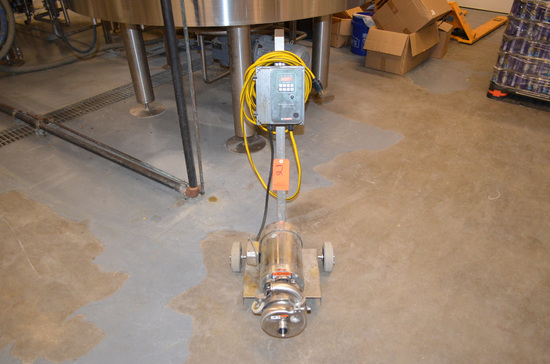 CPE 1-1/2 HP Model C114 Stainless Steel Portable Centrifugal Brewhouse Pump