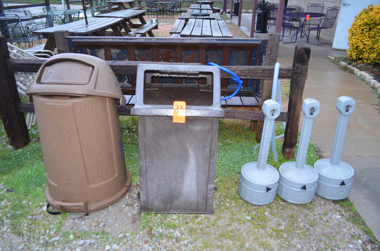 Lot - Trash Cans and Cigarette Outposts