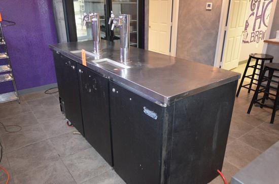 Superior Products 3-Door 6-Tap Model BVK DD78 Beverage-Aire Kegerator, S/N:
