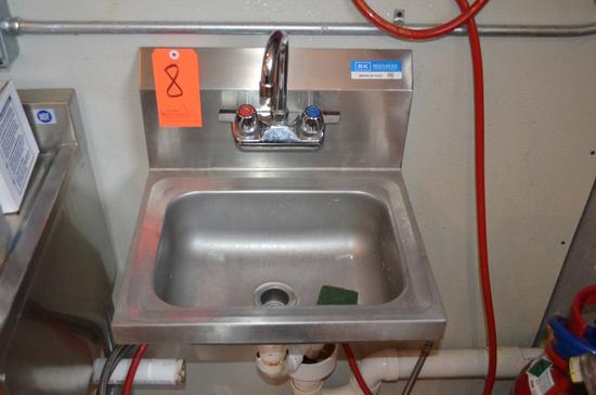 BK Resources Model BKHS-W-1410 Stainless Steel Hand Wash Sink